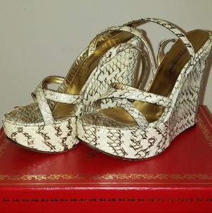 Dolce and Cabbana snakeskin wedges.